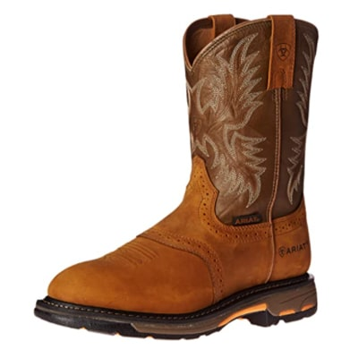 Ariat Workhog Pull-on Work Boot – Men's Leather, Round Toe, Western Work Boot