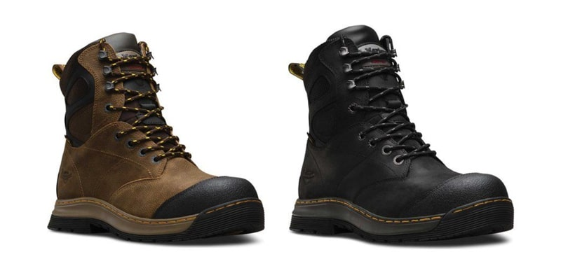 Dr. Martens Men's Spate EH Waterproof Safety Toe 8-Eye Boots