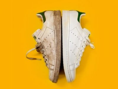How to remove yellow bleach stains from white shoes