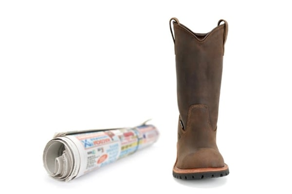 Add cloth or socks inside the boots