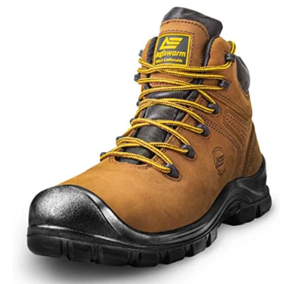 """AEGISWARM 6"""" Steel Toe Work Boots for Men: Best for foot pain"""
