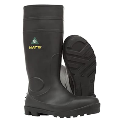 NAT'S 1645 - Steel Toe Rubber: Best for size fit